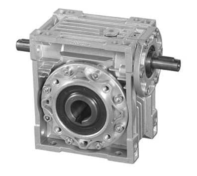 WJZZ双轴输入铝盒蜗杆